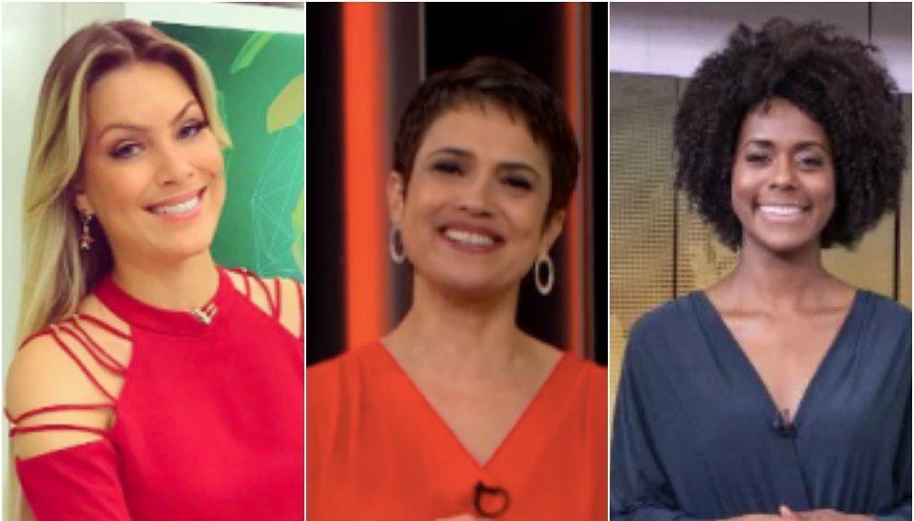 Sensitiva Renata Fan, Sandra Annenberg e Maju Coutinho. Foto: Reprodução
