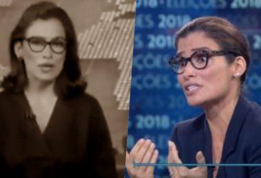 Renata Vasconcellos foi apontada em luto durante o Jornal Nacional e deu o que falar (Foto reprodução)