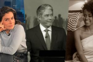Renata Vasconcellos, Maju Coutinho e William Bonner tem muitas curiosidades que o público nem imagina (Foto montagem: TV Foco)
