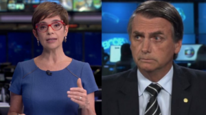 Renata Lo Prete critica Bolsonaro no Jornal da Globo (Foto: Reprodução/ Montagem TV Foco)