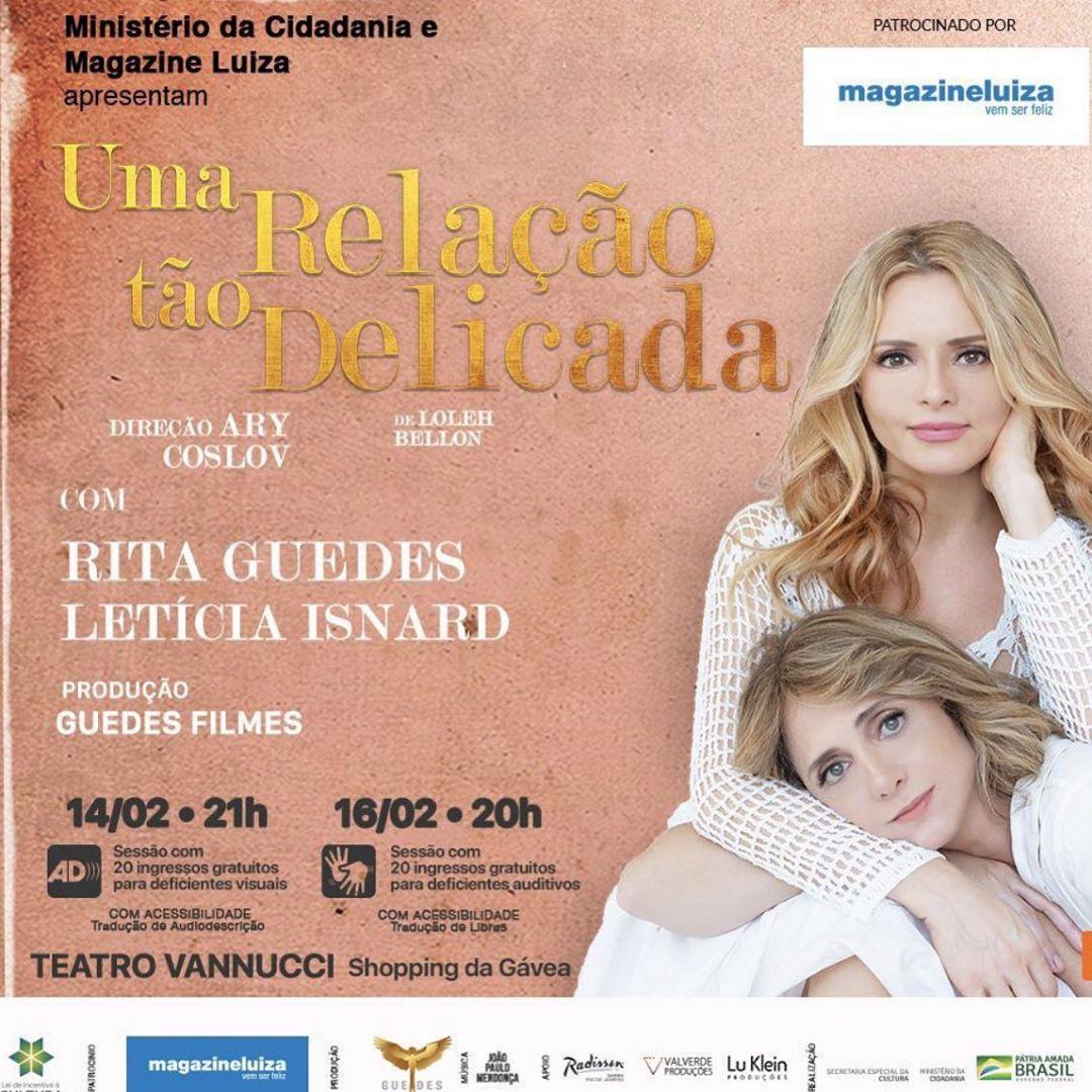 Rita Guedes além de série na Globo, também está em cartaz com peça no Rio Instagram)