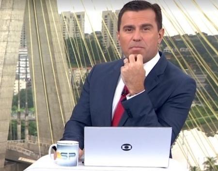 Rodrigo Bocardi durante a edição de hoje do Bom Dia São Paulo. Foto: Reprodução