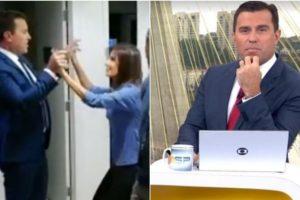 Rodrigo Bocardi se diverte nos bastidores do BDSP. Foto: Reprodução