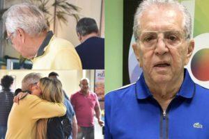 Carlos Alberto de Nóbrega e sua filha, Maria Fernanda (Foto: Leo Franco/AgNews/SBT/Montagem TV Foco)