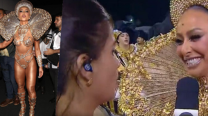 Sabrina Sato vira destaque ao vivo na cobertura do Carnaval na Globo (Foto reprodução)