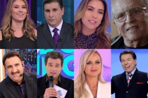 E aí, será que você quais são os maiores salários da emissora de Silvio Santos, SBT? Ratinho, Elina, Celso Portiolli, Patrícia Abravanel e quem mais? (Foto: reprodução/Montagem TV Foco)