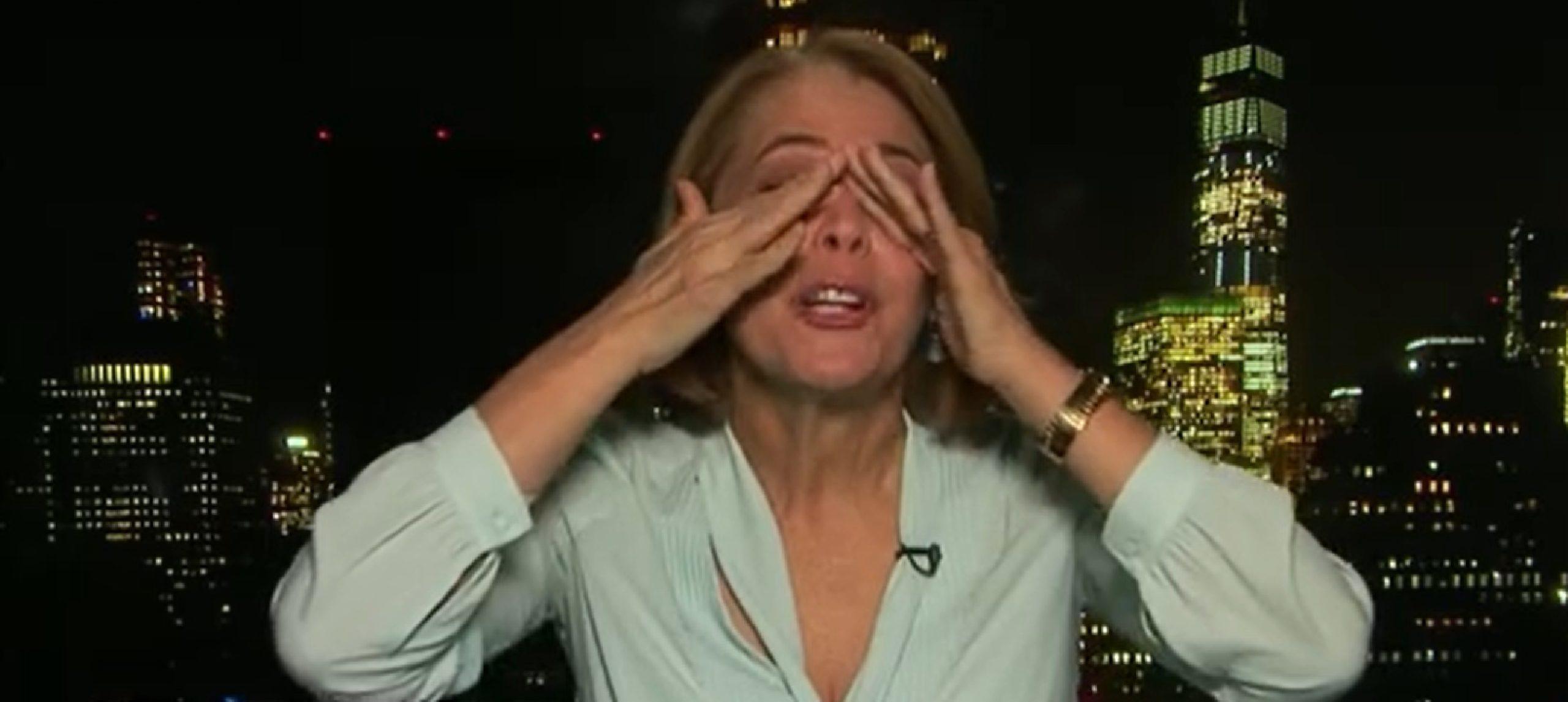Sandra Coutinho chorou ao vivo na GloboNews (foto: reprodução)