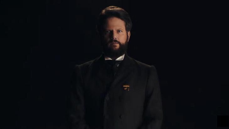 Selton Mello surge na chamada de Nos Tempos do Imperador a nova novela da Globo (Imagem: Reprodução)