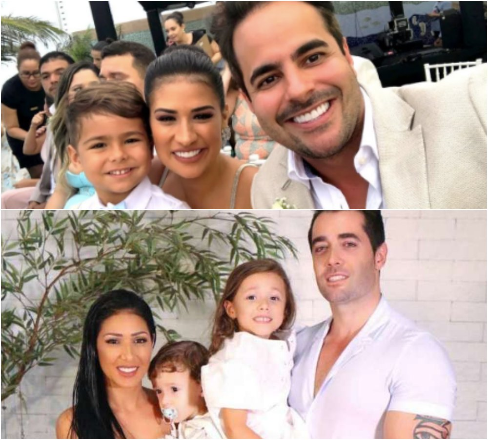 Simone e Simaria com suas respectivas famílias. Foto: Reprodução