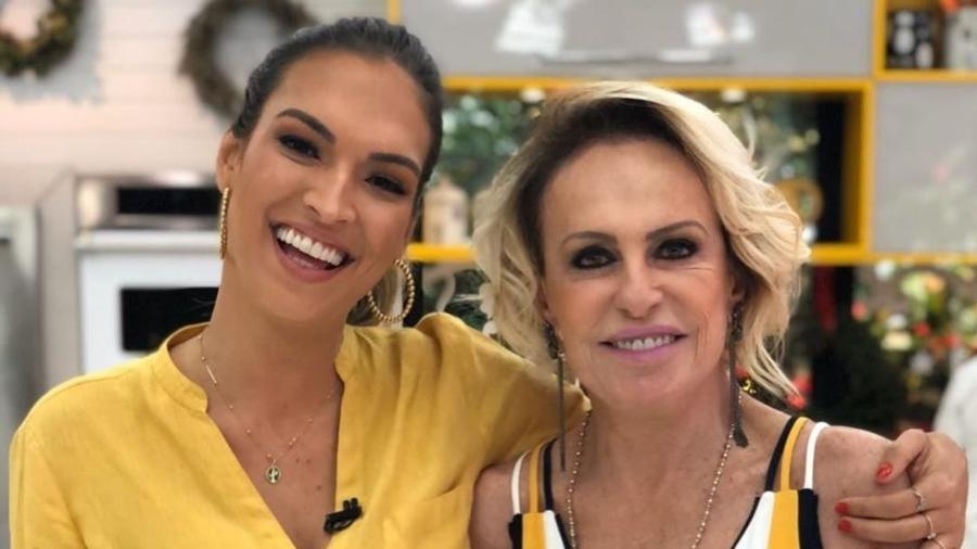 Ana Maria Braga ao lado de Talitha Morete, sua substituta no Mais Você (Foto: Reprodução)
