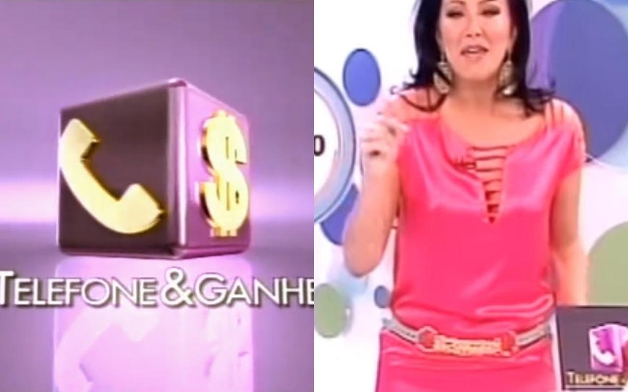 O programa Telefone e Ganhe (Foto: reprodução/SBT) Helen Ganzarolli