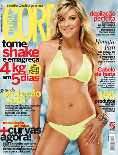 Renata Fan em ensaio para revista Corpo a Corpo. Foto: Reprodução: Reprodução
