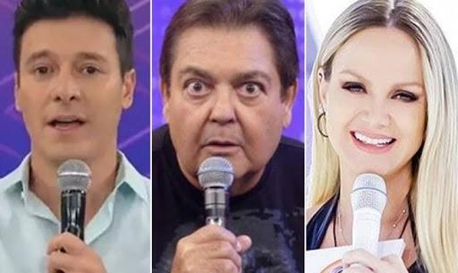 Rodrigo Faro e Faustão sofreram com Eliana em audiência - Foto: Montagem