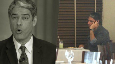 William Bonner do Jornal Nacional foi flagrado segundo programa em restaurante (Foto montagem)