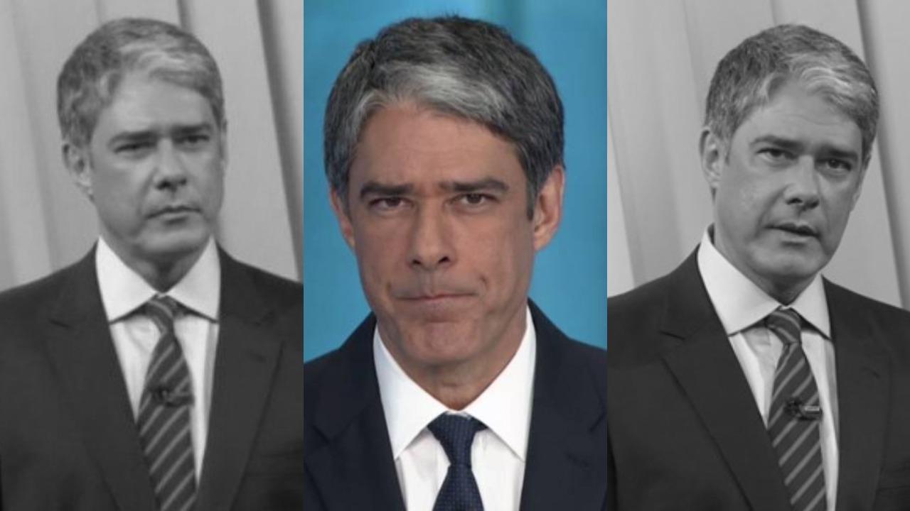 William Bonner entregou realidade do passado com os seus trigêmeos (Foto: Reprodução/TV Globo/Montagem TV Foco)
