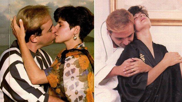 Gugu Liberato e Rose Miriam posaram como casal em 1994 Foto: fotos (reprodução/ revista caras)