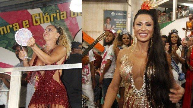 Viviane Araújo e Gracyanne Barbosa se evitam ao máximo durante evento de Carnaval. Foto: Reprodução