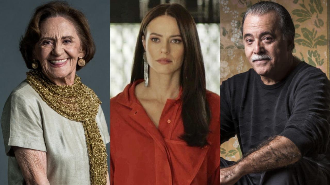 Laura Cardoso, Paolla Oliveira e Tony Ramos (Foto: Divulgação/TV Globo/Montagem TV Foco)