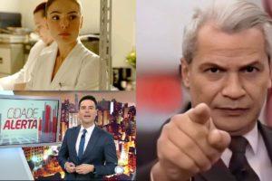 Alerta Nacional, Cidade Alerta e Amor de Mãe foram destaques de audiência (Foto: Reprodução/Twitter/TV Globo/Record/Montagem TV Foco) SBT