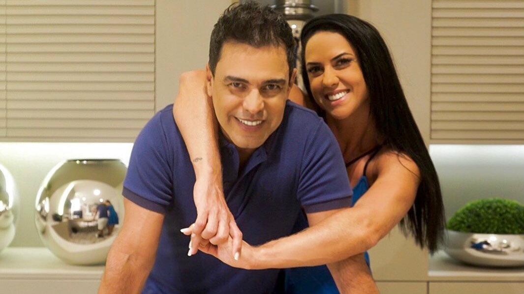 Zezé di Camargo e a noiva Graciele Lacerda (Reprodução)