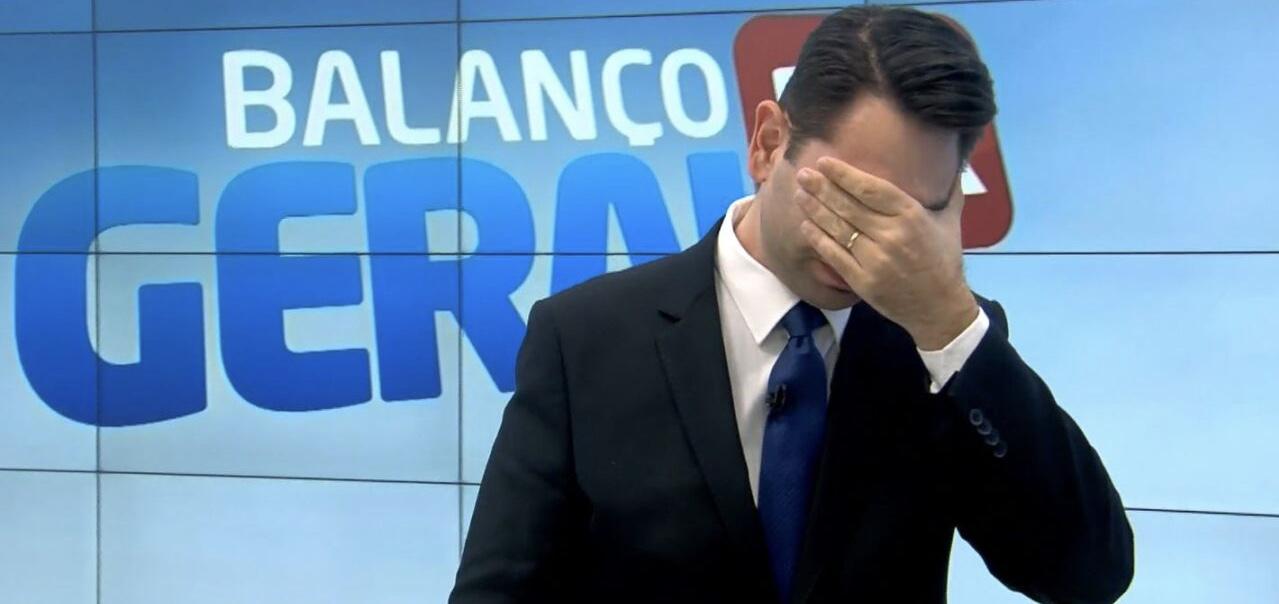 Guilherme Rivaroli chorou ao vivo no Balanço Geral de Curitiba (foto: reprodução/RIC Record)