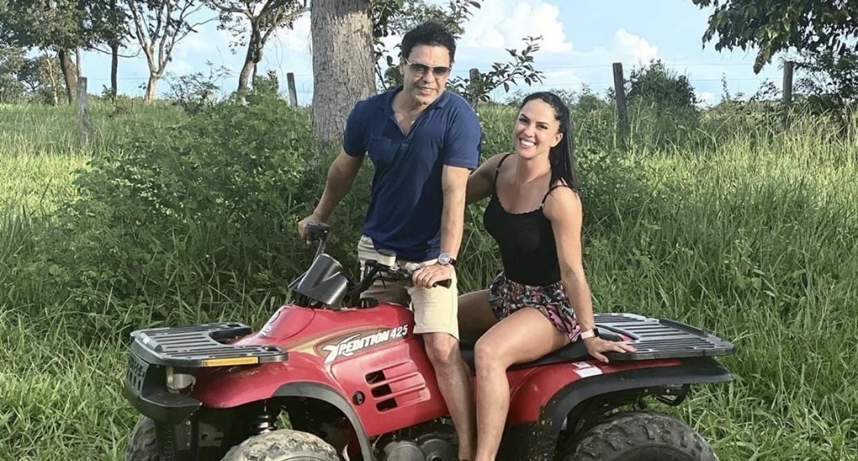 Graciele Lacerda ao lado de seu marido, o cantor Zezé di Camargo (foto: reprodução/Instagram)
