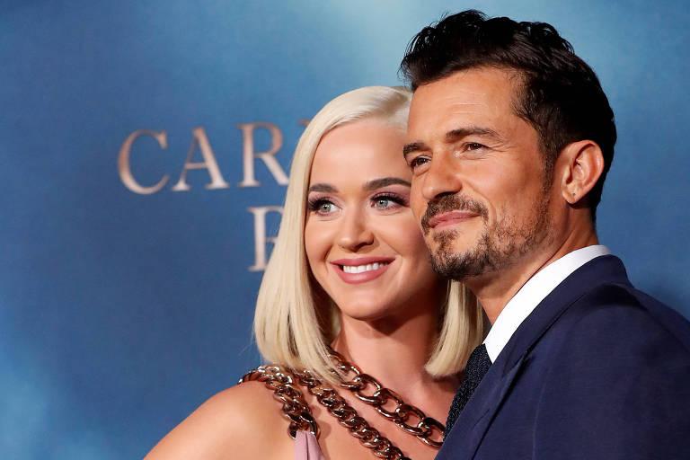 Katy Perry e Orlando Bloom estão esperando o primeiro filho fruto da relação (Foto: Reprodução)