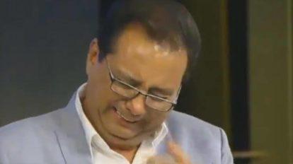 Geraldo Luís emocionou a todos com homenagem a sua mãe (foto: reprodução/Record)
