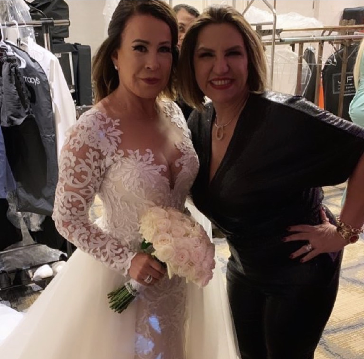 Zilu Camargo e seu vestido de noiva (foto: reprodução)