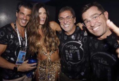 Rodrigo Bocardi curtiu o Carnaval com um apresentador da Record (foto: reprodução/Instagram)