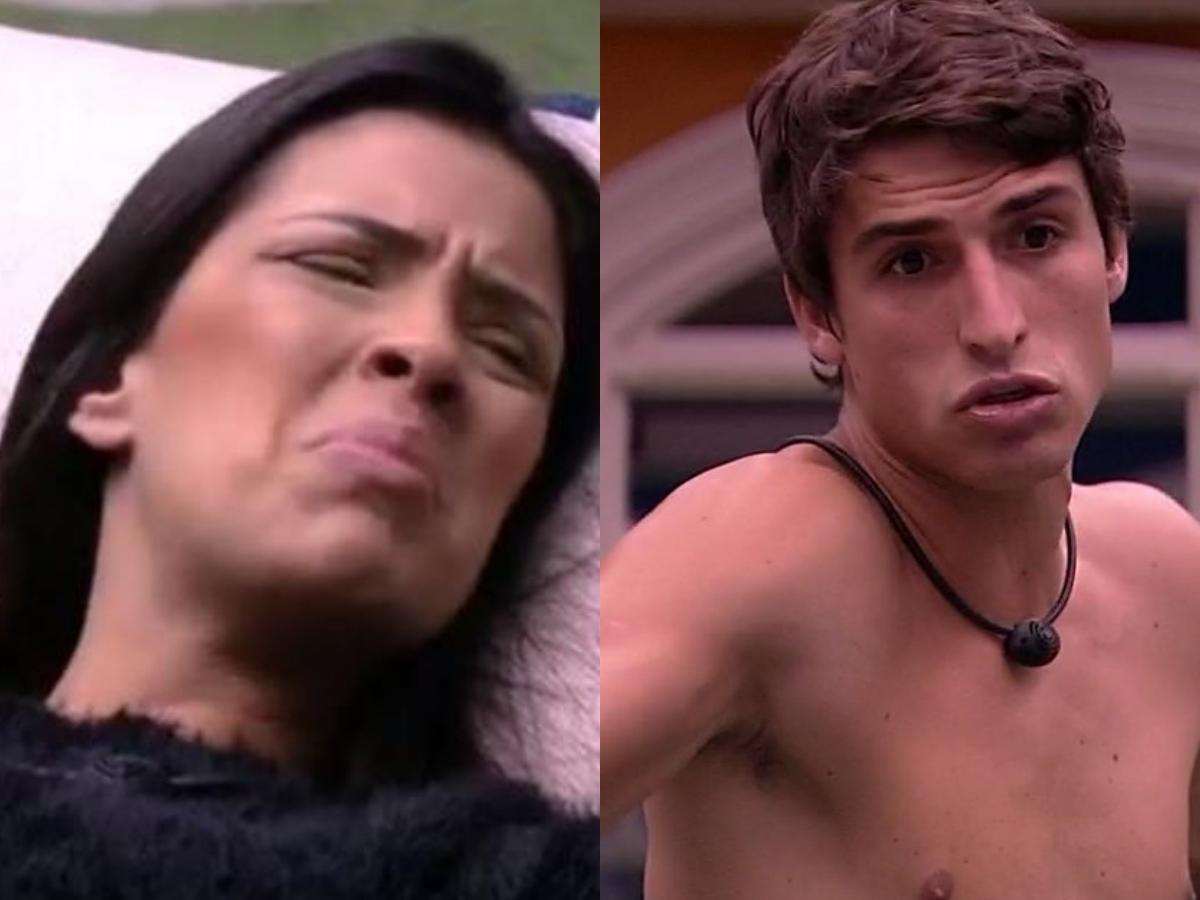 BBB20: A modelo e integrante do reality da Globo, Ivy acabou falando mais do que deveria sobre Felipe Prior durante conversa com Flay (Foto: Reprodução/Montagem TV Foco)
