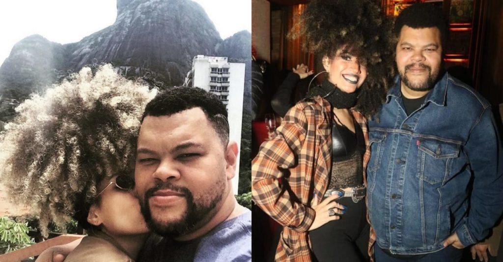 Babu Santana e sua namorada, Tatiane Melo. Cantora fala sobre preconceito dentro do BBB (Foto: Reprodução/Instagram)