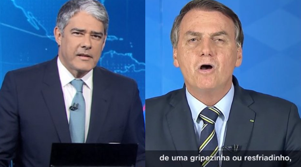 Bonner critica discurso de Jair Bolsonaro (Foto: Reprodução)