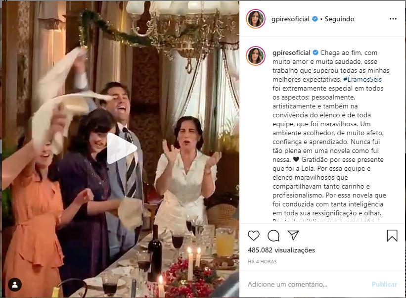 Glória Pires se despede da Globo (Foto: Reprodução)
