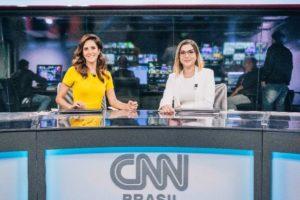 Monalisa Perrone ao lado de Daniela Lima na bancada do Expresso CNN (Foto: Divulgação CNN/Spokesman)