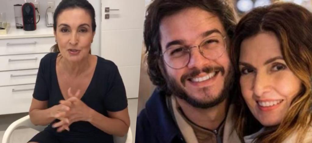 Fátima Bernardes surgiu ao vivo no Instagram (Foto montagem: TV Foco)