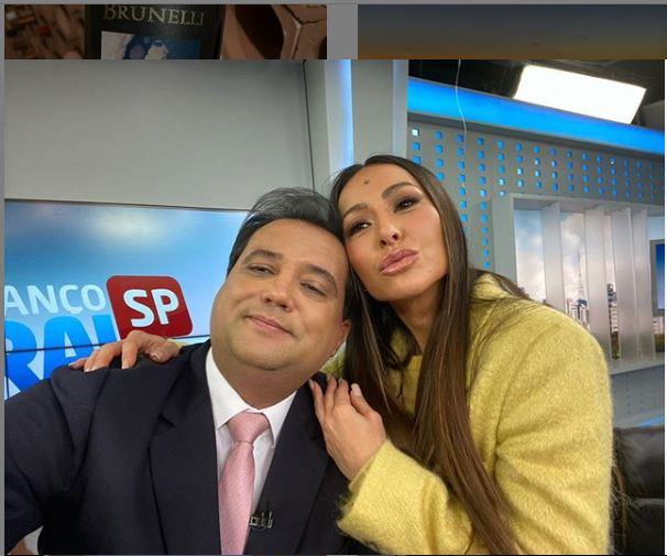 Sabrina Sato e Geraldo Luís (Foto: Record)