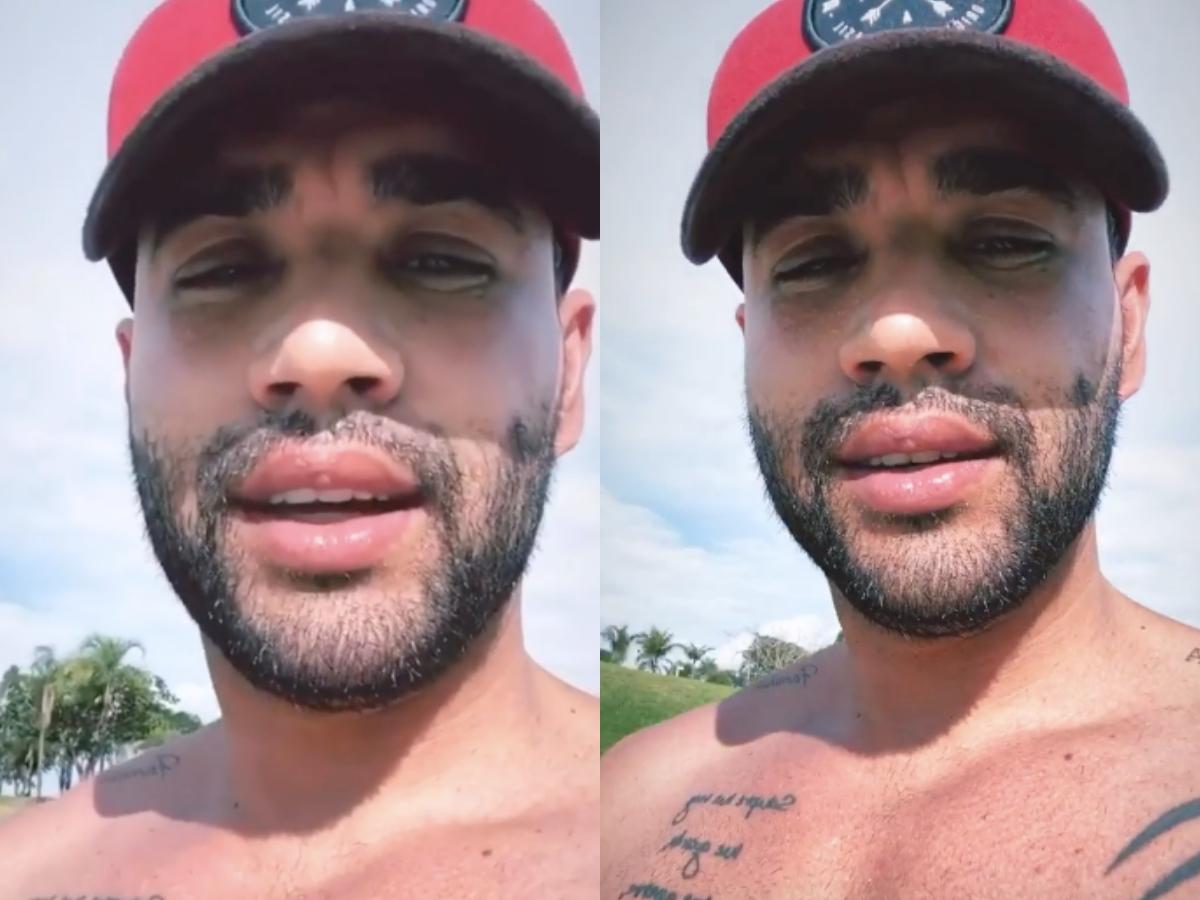 O famoso cantor sertanejo e marido de Andressa Suita, Gusttavo Lima se tornou um dos assuntos mais comentados das redes sociais após o galã expor o que tem feito na quarentena (Foto: Reprodução/Instagram/Montagem TV Foco)