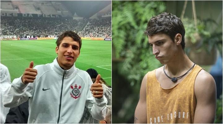 Felipe Prior é torcedor do Corinthians. (Foto: Montagem/Reprodução)