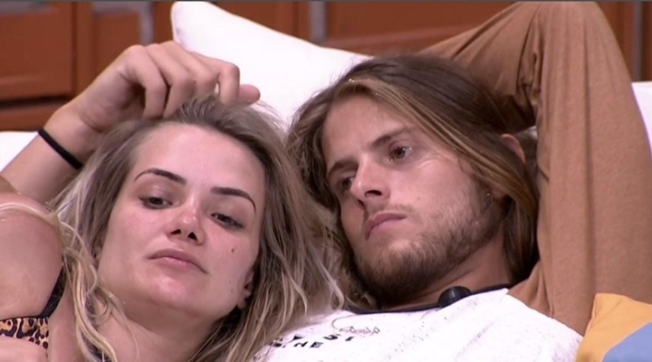 Marcela e Daniel no BBB 20. (Foto: Reprodução)