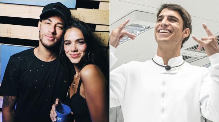 Neymar teria desistido de puxar mutirão contra Manu em paredão com Prior por influência de Bruna Marquezine. (Foto: Montagem/Divulgação)