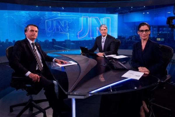 Jair Bolsonaro, William Bonner, Renata Vasconcellos
