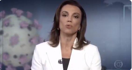 Ana Paula Araújo no Jornal Nacional (Foto: Reprodução)