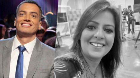Leo Dias e Fabia de Oliveira do Jornal o Dia são grandes amigos (Foto montagem: TV Foco)