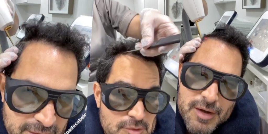 Luciano Camargo irmão de Zezé, apareceu em vídeo fazendo procedimento (Foto reprodução)
