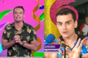 leo Dias detonou comportamento de Dudu Camargo durante o Carnaval da RedeTV (Foto: Montagem/TV Foco)