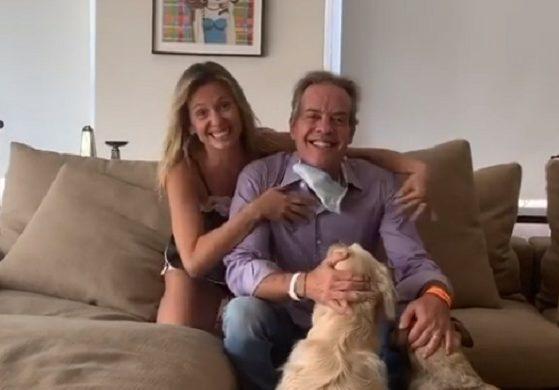 Luisa Mell comemorou a alta do marido após internação devido ao coronavírus (Foto: Reprodução)