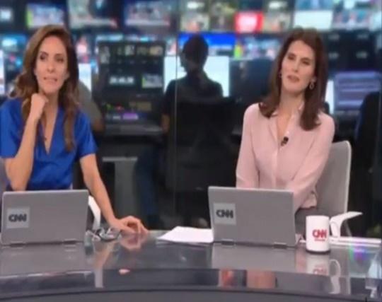 Monalisa Perrone e Carol Nogueira ficaram assustadas (Foto: Reprodução)