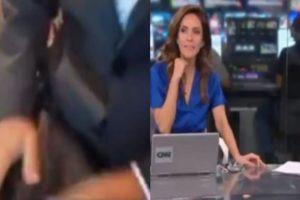 Repórter da CNN Brasil exibiu a sua calça ao vivo na TV e assustou apresentadoras (Foto: Montagem/TV Foco)