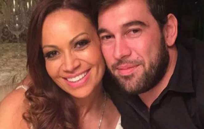 Solange Almeida e o namorado Leandro Andriani (Foto: Reprodução)
